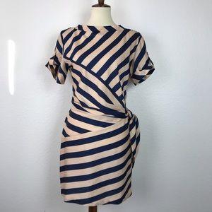 Diane von Furstenberg Leron Stripe Silk Dress